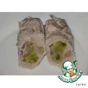 Рецепт: Крученики с кабачками