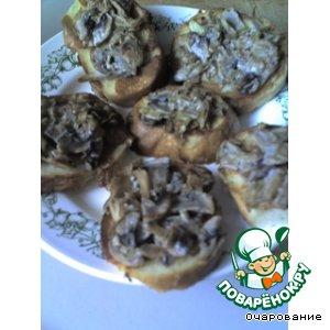 Рецепт: Гренки с грибами