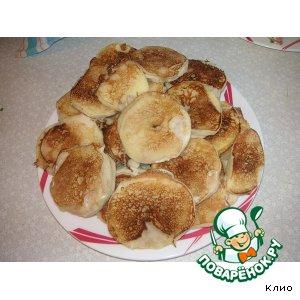 Рецепт: Яблочные или грушевые ломтики в тесте