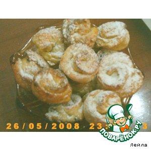 Рецепт: Творожное печенье Розочка
