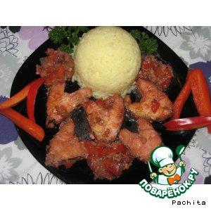"""Рецепт: Рыба в гранатовом соусе """"Взрыв вкуса"""""""
