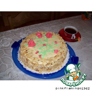 Рецепт: Торт с масляным кремом. Ещe один вариант