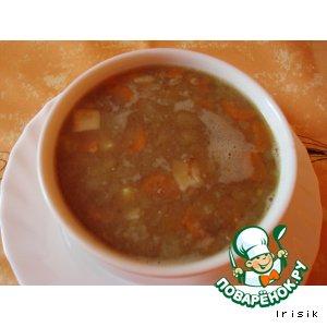 Рецепт: Суп из чечевицы с грибами
