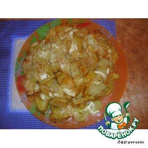 Рецепт: Картофель на тарелке
