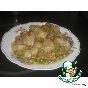 Рецепт: Свинина на хрящах с овощами