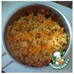 Рецепт: Коричневый рис с овощами