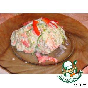 Рецепт: Рыбный салатик с морковью по-корейски