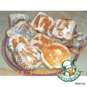 Рецепт: Творожно-абрикосовые ватрушки