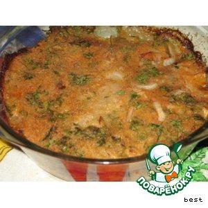 Рецепт: Фирменное блюдо из рыбы