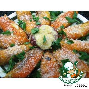 Рецепт: Сладкие перцы, фаршированные сыром Звезда магрибов