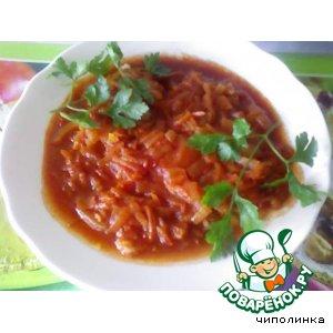 Рецепт: Сом в томатном соусе