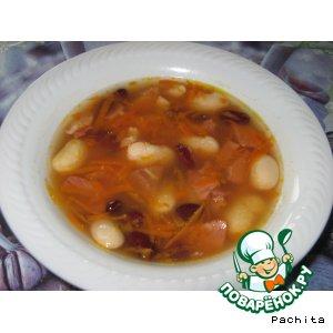 """Рецепт: Суп """"Чорба"""" с фасолью"""