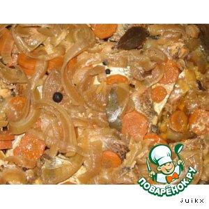 Рецепт: Рыбные консервы из сковородки