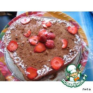 Рецепт: Слоеный шоколадный торт