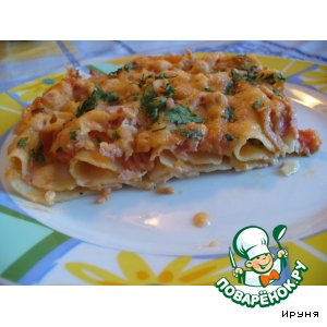 Рецепт: Каннеллони с помидорами и сыром