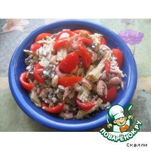 Рецепт: Салат из спаржи