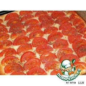 Рецепт: Фокачча со свежими томатами