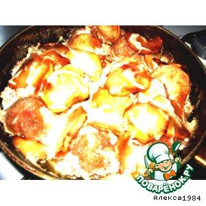 """Рецепт: Запечeные тефтельки с картошкой """"Пятничный ужин"""""""