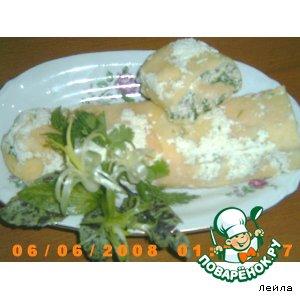 Рецепт: Сырно-куриный рулет