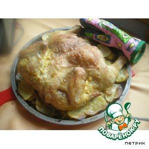 Рецепт: Курица, запеченная в духовке