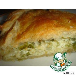 Рецепт: Луковый слоеный пирог