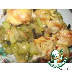 Рецепт: Запеканка пельменно-овощная