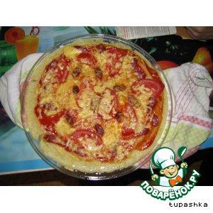 Рецепт: Пицца в микроволновке