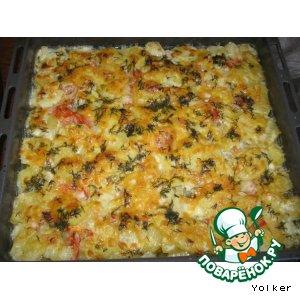Рецепт: Филе трески с овощами