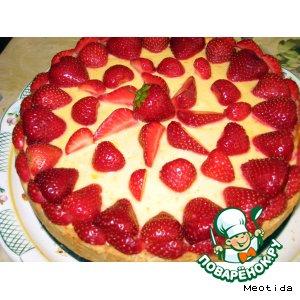 Рецепт: Творожный торт с клубникой