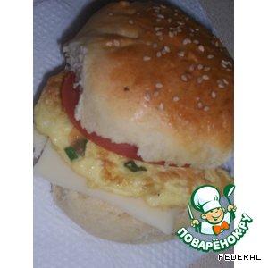 Рецепт: Домашние булочки для сэндвичей