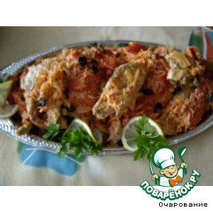 Рецепт: Рыба в сметанно-томатном соусе