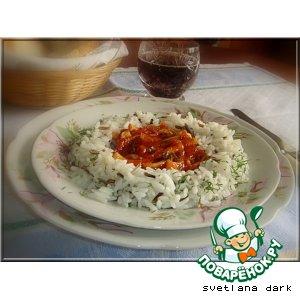 Рецепт: Кальмары, тушенные в томатной пасте