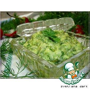 Рецепт: Соус из авокадо с зеленью