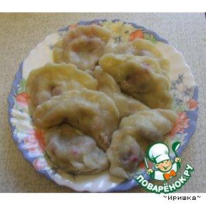 Рецепт: Вареники с картофелем и вареники с ягодами