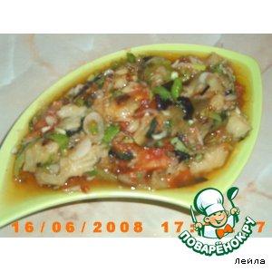 Рецепт Натуральный баклажановый салат