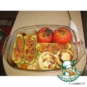 Рецепт: Фаршированные овощи по-французски