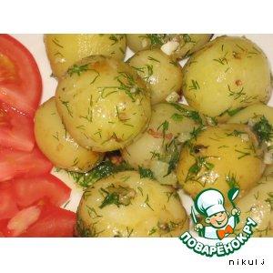 Рецепт: Молодой картофель в сливочном масле