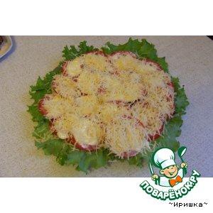 Рецепт: Помидорки под сыром