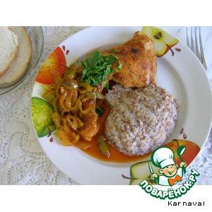 Куриные окорочка с болгарским перцем