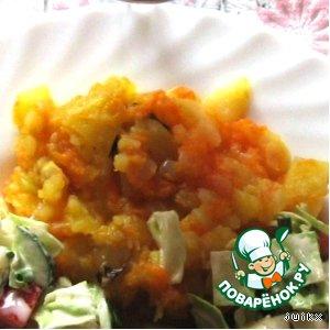 Рецепт: Картошка, тушеная с веточками базилика