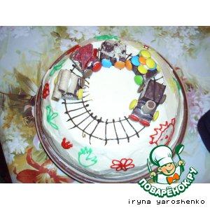 Рецепт: Торт с паровозиком