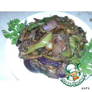 Рецепт: Баклажаны жаренные по-корейски