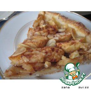 Рецепт: Яблочный   тарт   с   медом   и   орехами