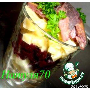 Рецепт Закуска из сельди с пряной свеклой