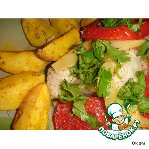 Рецепт: Рыба под овощами