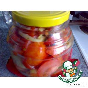 Рецепт: Живые помидоры на зиму