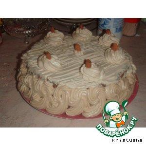 Рецепт: Сливочно-кофейный торт