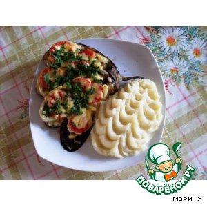Рецепт: Баклажаны со сладким перцем
