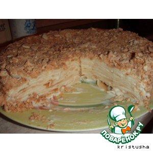 Рецепт: Мокрый торт Наполеон