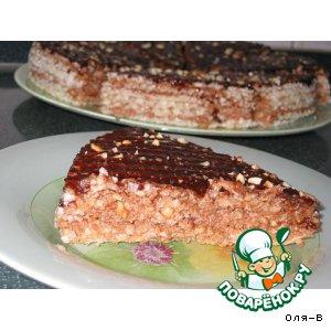 Рецепт: Торт Ленивчик из вафельных коржей